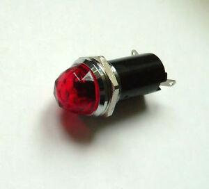 230VAC Chromed Red Pilot Lamp for Fender Guitar Amplifier bulb jewel light 16mm