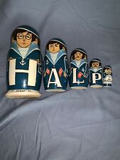 The Beatles Russian Nesting Dolls 1991. From Help. 5 Handmade Wooden Dolls. Mint