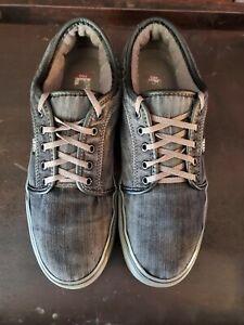 Van's Men's Skate Shoes Pro Ultra Cush Chukka Low Sz 10 Gray Denim Gray Soles