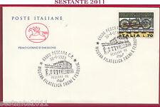 ITALIA FDC CAVALLINO MOSTRA FILATELICA TRENI E FERROVIE 1988 ANN. PESCARA Z121