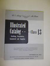 bk9 WW 2 US Army Air Force Class 13 Illustrated Catalog equipment supplies R21H8