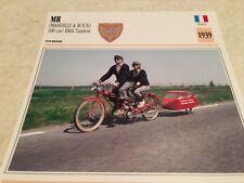 Carte moto MR Mandille Roux 100 BMA tandem 1939 collection Atlas France