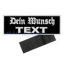 Aufnäher Patch Name Schild Club Verein BW BRD BRK Wunschtext mit Klett 12x4cm