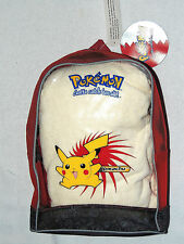 "NWT ~POKEMON PIKACHU ~SMALL RED TRANSCLUCENT FRONT  BACKPACK  12"" X 8"" APPROX."
