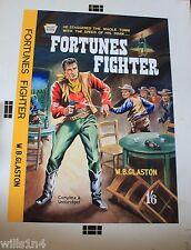 "Western pulp Illustrator Art Book Cover ""Fortunes Fighter"" 1950 W.B. Glaston"
