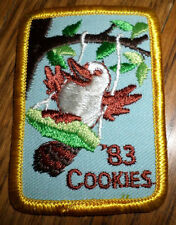 Girl Scout Gs Vintage Uniform Patch Cookies 1983 Bird On A Swing