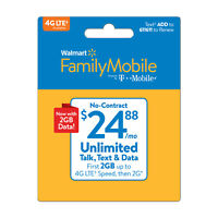 Walmart Family Mobile $24.88 Unlimited Monthly Plan & Mobile Hotspot Included Di