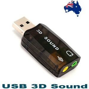 NEW USB 2.0 to 3.5mm mic headphone Jack Stereo Headset 3D Sound Card Audio Adapt