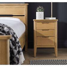 Moreton Oak Bedroom Furniture 3 Drawer Bedside Cabinet Table