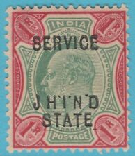 INDIA JHIND O22 MINT HINGED OG  *  NO FAULTS  UNLISTED VARIETY DOTS RE-ENTRY !