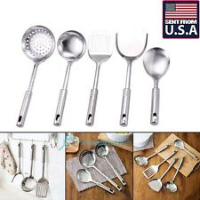 5X Stainless Steel Utensil Set Kitchen Cooking Spoon Spatula Ladle Kitchen Tools