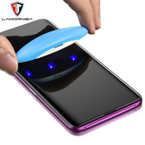 Liquid Screen Protector For Samsung Note 9 8 S9 S8 + Full UV Glue Tempered Glass