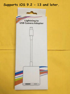 Lightning to USB Camera Adapter for  Ethernet Adapter MIDI Hubs Electronic Piano