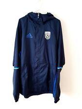 West Bromwich Albion Chaqueta Abrigo. pequeño Adultos. Adidas. Azul WBA West, Brom S.