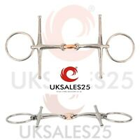 UKSALES25/® Horse Bits 5.0 INCHES, 20 Loose Ring Sweet Iron Snaffle Bit with Copper Lozenge