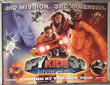 Cinema Poster: SPY KIDS 3D 2003 (Quad) Antonio Banderas Robert Rodriguez