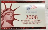 2008 US Mint Silver Proof Set 14 Coin SET Certificate Authenticity COA Box OGP