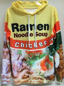 Ramen Noodle Soup Chicken 3D Hoodie Sweatshirt Pullover Sweater Adult Size S/M