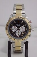 NEW Rotary Men's GB03429/20 Two-Tone Chronograph Swiss Bracelet Watch RRP £229/-