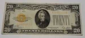 1928 $20 Dollar Bill Gold Seal