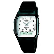 Casio Unisex Orologio Cronografo Retrò, quadrante analogico/digitale, 5 ATM, AW-48H-7BV