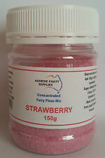 Fairy Floss Strawberry Concentrate Sugar 150g, Cotton Candy, Popcorn,