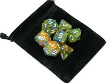 New Chessex Polyhedral Lab Dice Festive Autumn 7 Piece Set with Bag DnD RPG
