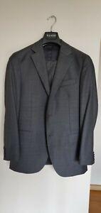 Mens Herringbone Royal Grey Wool 2 Pc Suit Set Size 38