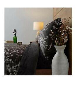 Cozee Home Pixel Damask Printed Velsuede & Velvetsoft 4 piece Duvet Set KING