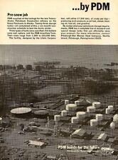 1970 PDM Ad Pittsburgh Des Moines Steel Tanks Tesoro Alaska Refinery Print Ad