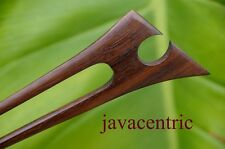 Carved TRIBAL wooden HAIR PIN PICK FORK elegant handmade Sono wood organic new
