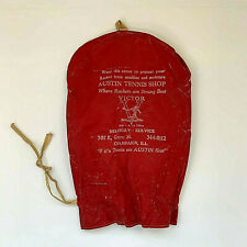 Vintage Austin Tennis Shop Victor Racket Stringing Service Advertising Cover Red