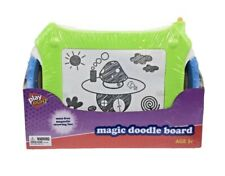 NEW BLUE PLAY RIGHT MAGIC DOODLE BOARD MESS FREE MAGNETIC DRAWING FUN AGES 3+