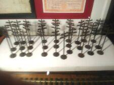 "MARS O Gauge Telephone Utility Poles 7"" tall lot of 27 Model Train RR"