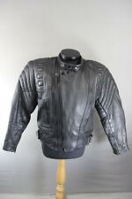 DYNAMIC LEATHER BLACK COWHIDE BIKER JACKET WITH THINSULATE 3M THERMAL LINING 40""