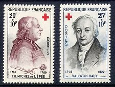 STAMP / TIMBRE FRANCE NEUF N° 1226/1227 ** CROIX ROUGE DE 1959