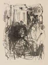 GITTA KETTNER - Auf der Terrasse - Lithografie 1975