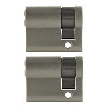 50 Schlüssel Tür Zylinder Schloss gleichschliessend 10x Halbzylinder 40mm 30//10
