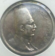 1923 H Egypt 20 Piastres - Big Silver - Scarce Type