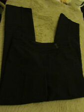 "Plain Black Trousers in Size 14 by D Perkins - L30"" W34"""