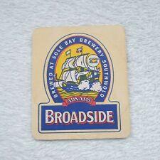 Vintage Adnams Broadside Beer Mat Home Bar Man Cave Collector