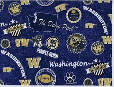 UW University of Washington Cotton Fabric Home State Print ~Mask Cuts & More~