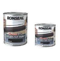 Ronseal Diamond Hard Doorstep Paint Hard Wearing Black -  2 Sizes 250ml & 750ml