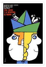 Graphic Design movie Poster.VITIA-MASHA.Russian film.Children Girl room decor