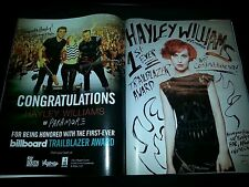 Paramore Hayley Williams Trailblazer Award Rare Promo Poster Ad Framed!