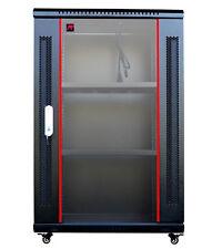 """15U 24"""" Deep Wall Mount Server Cabinet Enclosure Rack Glass Door Accessorie Free"""