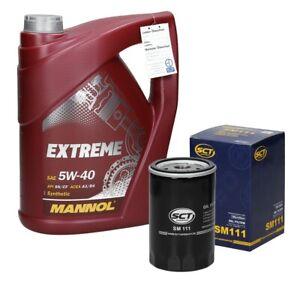 5L 5W40 Mannol Extreme Motoröl + Ölfilter Motorölfilter Filter Höhe:123mm