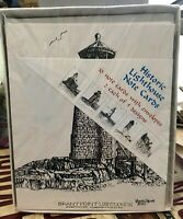 NEW BOX 10 Note Cards With Env. HISTORIC LIGHTHOUSES original Ink