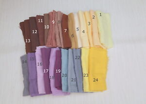 Hand dyed Gauze Sheer Cotton Cheesecloth Newborn Baby Wrap, Wedding Table Runner