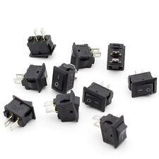 10pcs Small Mini Black On/Off Boat Rocker Switch Rectangle 10x15mm-SPST-2P COP
